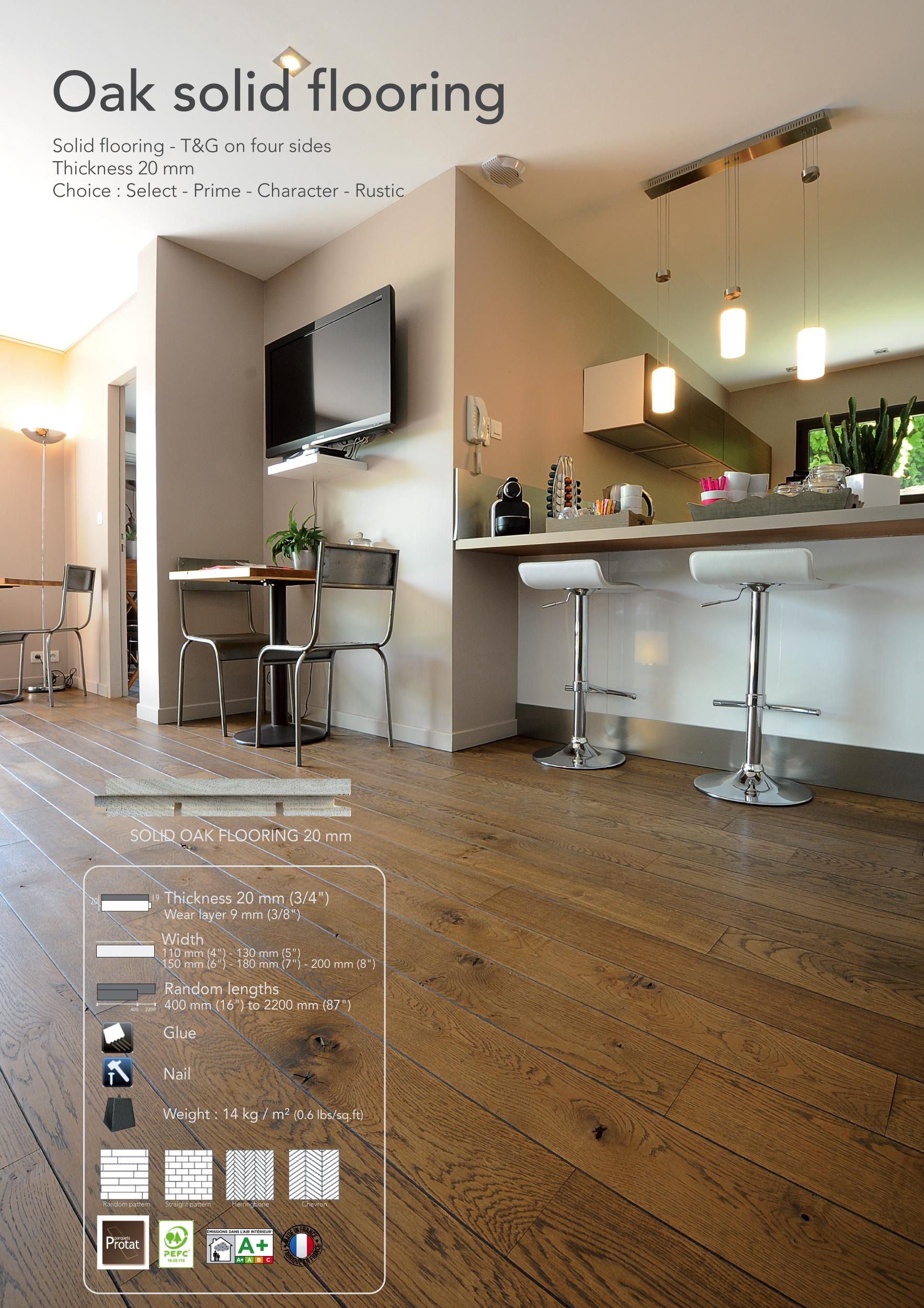oak solid flooring parquets protat. Black Bedroom Furniture Sets. Home Design Ideas